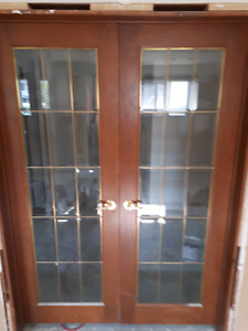 French glass doors