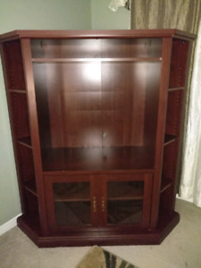 TV Cabinet, Corner unit with Shelves
