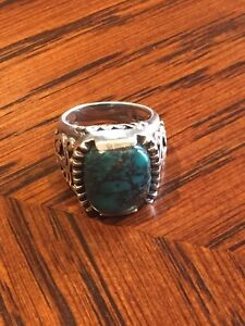 Retired silpada turquoise silver ring - rare