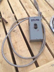 Electrical Industrial power box single breaker panel