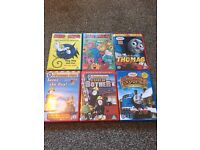 6 DVDs - Mixed bundle of Thomas and Fireman Sam, Meg and Mog and Mr Men