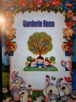 Hana daycare $8.25 aday . 514-632-5102 cell