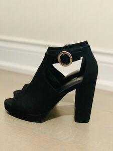 Brand new 4 1/4 in. height heel sandals