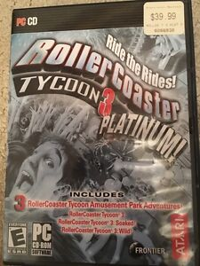 Used Copy of Roller Coaster Tycoon 3 Platinum Edition