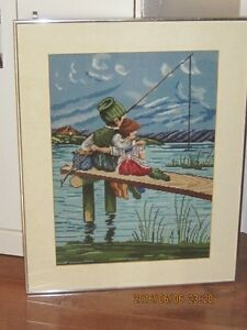 BEAUTIFUL NEEDLEPOINT PICTURE now $50.00 Cambridge Kitchener Area image 2