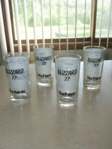 Buffalo NY Blizzard Of 1977 Courier Express 6 Drinking Glasses