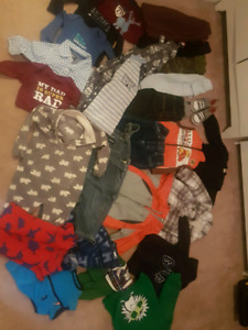 12-18 month clothing and size 4 boots