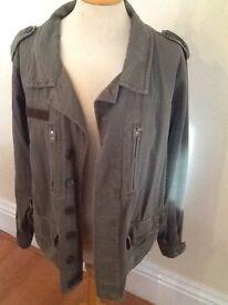 Top Shop size 14 khaki jacket