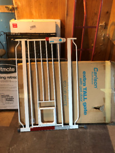 Dog crates and door gate