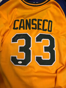 "Jose Canseco Autographed ""Juiced"" Athletics Jersey with COA"