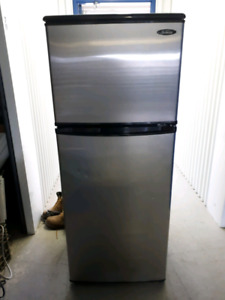 Stainless steel  and white fridge for sale