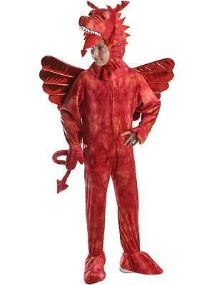 Child Welsh Red Dragon Fancy Dress Costume Book Week Animal Wild Jungle - Red Dinosaur Costume