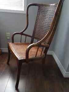 Classic Antique Wing Back Cane Chair Cambridge Kitchener Area image 2