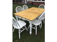 Farmhouse style dining table and 6 chairs