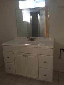 White Bathroom Vanity - Everything Included