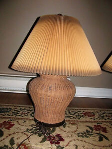 2 lampes en Osier - 2 wicker lamps