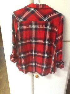 2 girls size 16 Justice button-down plaid shirts London Ontario image 4