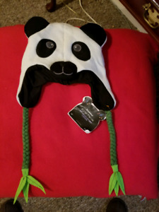 Panda hat with bluetooth speakers