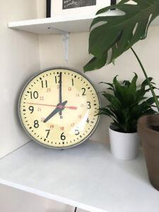 LARGE VINTAGE INDUSTRIAL WALL CLOCK