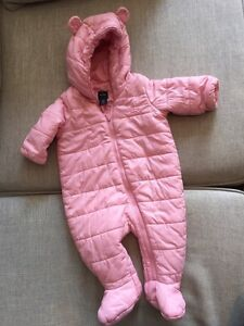 Baby gap 0-3 months quilted cozy bear one piece.