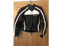 Motorcycle leather set jacket,pants,shoes.