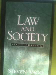 Law and Society - Sixth Edition by Steven Vago