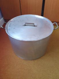 52cm Metal cooking pot with lid (Stock pot)