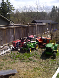 John deere and other lawn garden tractors and attatchments