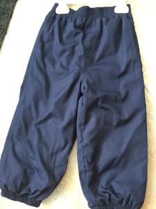 Pantalons de pluie, grandeur 18-24 mois