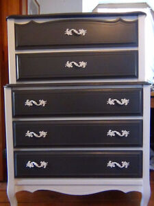 Two Elegant French Provincial Dressers-5 drawer-Baronet