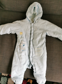 Baby boy M&S cotton padded overall