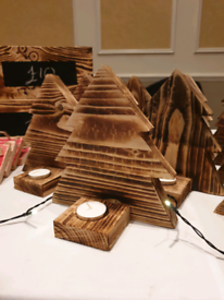 Xmas tree tealight holders