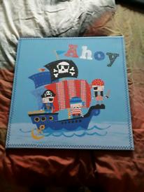Childrens pirate canvas