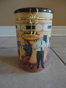 Tim Hortons limited edition metal canister coffee storage