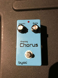 Byoc Analog Chorus Guitar Effects Pedal modelled after Boss CE2