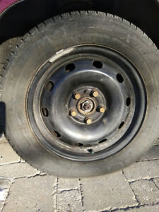 4 Used Michelin X-Ice Winter Tires including Rims