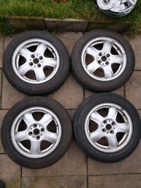 "Alloy Wheels 4X100 15"" 5.5J Mini One"
