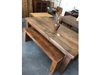 6ft x 3ft reclaimed pine dining table