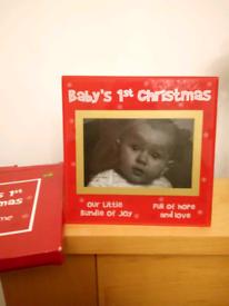 Baby's 1st Christmas photo frame