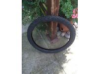 BMX bike tyre - hardly used !