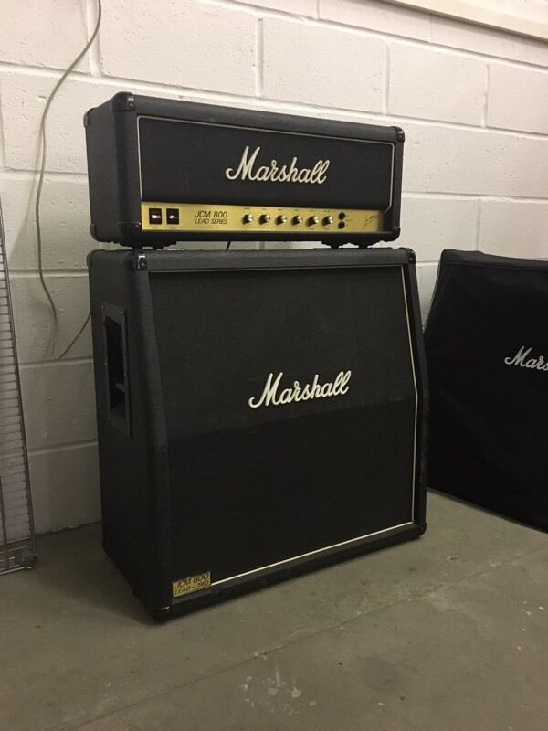 Marshall Jcm800 2204 50w Head And Jcm 800 Cab In