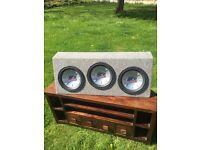 3 x MTX Audio 10inch Sub Woofers