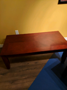 Redwood coffee table 2 end tables