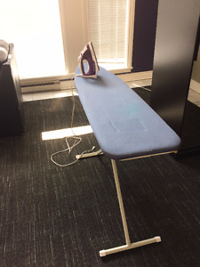 Must go by Sunday: Iron, ironing board, vacuum, mop