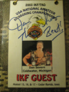 (1-OF-A-KIND)UFC/MMA '03 IKF/TKO CHAMPIONSHIPS SIGNED GUEST PASS