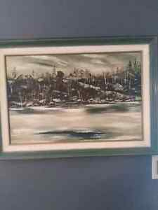 Oil Painting of Williams Lake