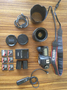 Canon 5d MKII + 24-70mm 2.8L lens + free accessories