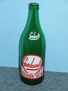 Large soda bottle, Garland's ginger ale, North Bay