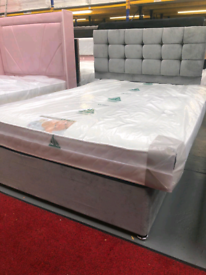 Brand new double divan bed with headboard and mattress £250