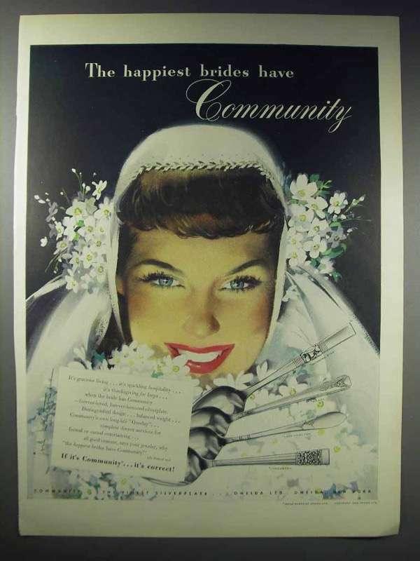 1948 Oneida Community Silver Ad - Morning Star, Milady